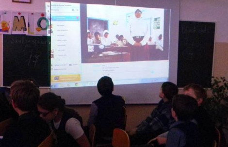 Students using Skype