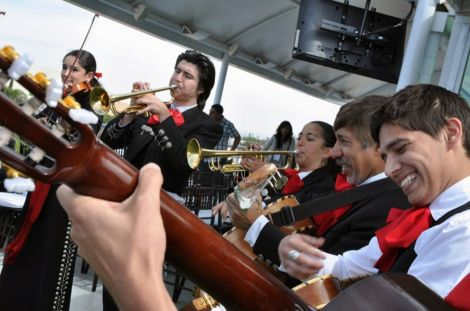 What a great photo! Mariachi music is one of the most familiar and enjoyable symbols of Cinco de Mayo, Mexico, and Mexican-American culture. Photograph by Elidealista, courtesy Wikimedia. Public domain.