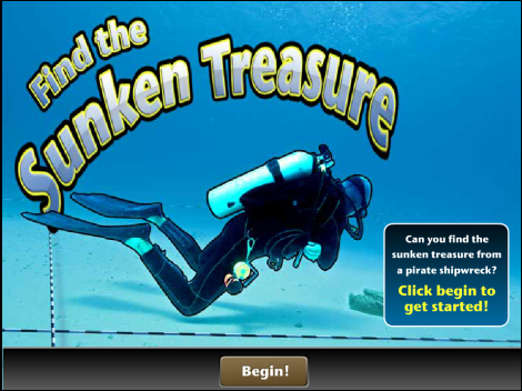 "Use a magnetometer to ""mow the lawn"" and find the sunken treasure with our fun game!"