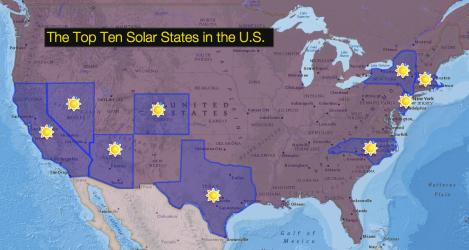 Top Ten Solar States
