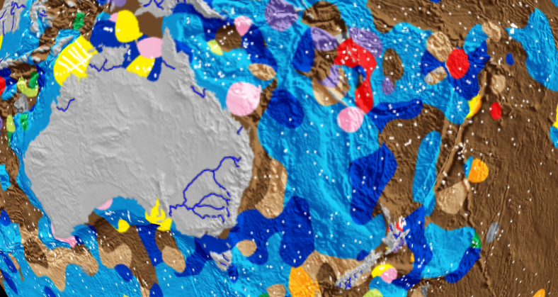 First digital map of the seafloor reveals secrets in the sediments based on seafloor sediments can you estimate the location new volcanic islands how about gumiabroncs Images