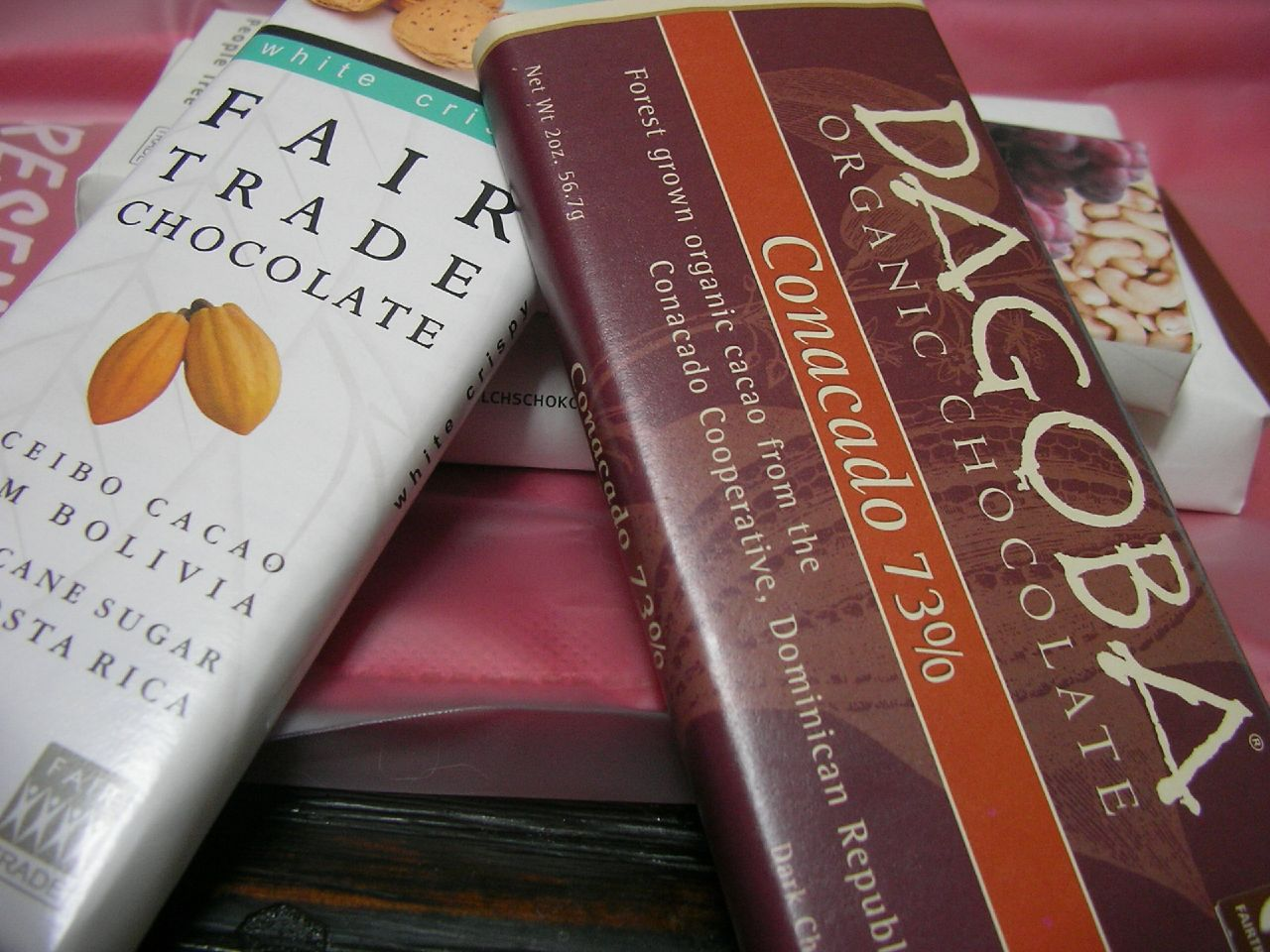 Picture of fair-trade chocolate bars