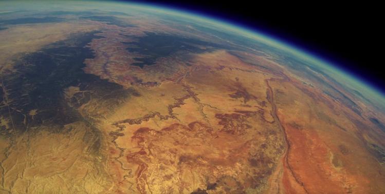 Grand Canyon (center left), grander vista.