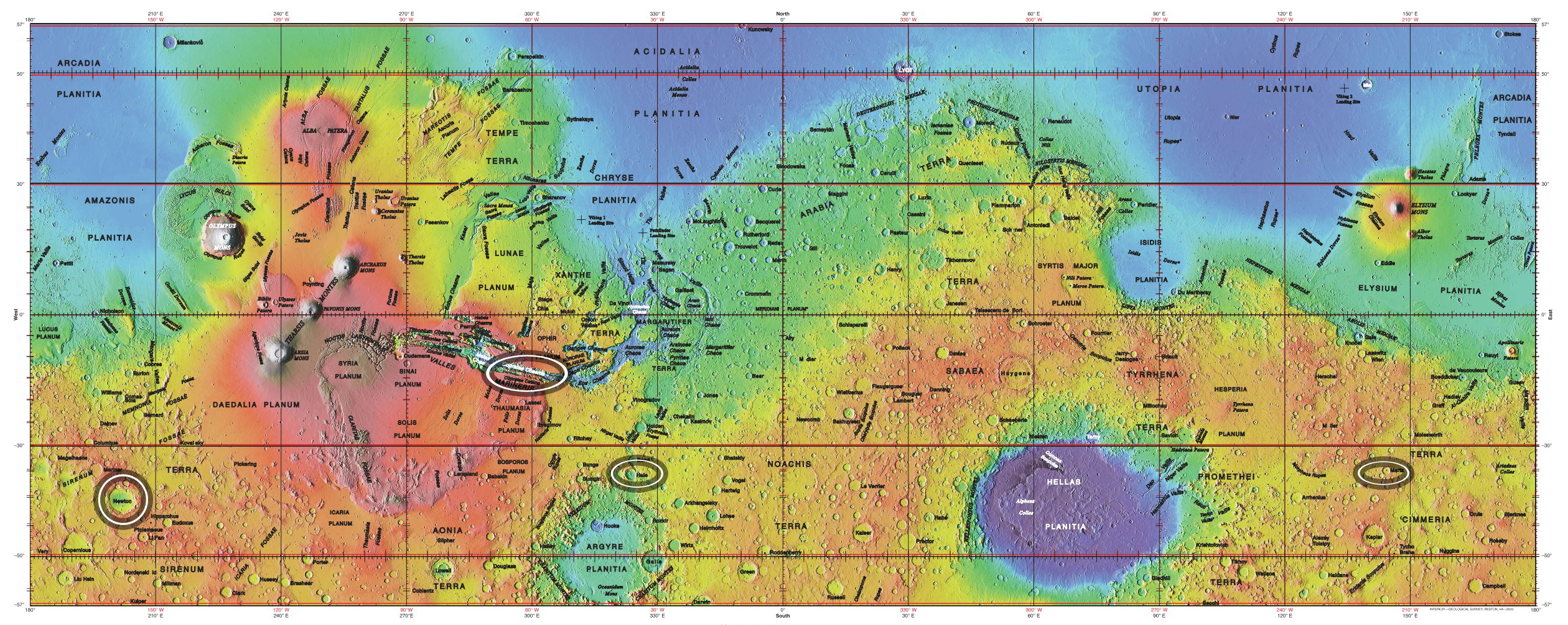 Water On Mars So What Nat Geo Education Blog - Location on map with latitude and longitude