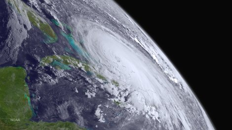 Hurricane Joaquin barrels through the Bahamas on October 1 in this dazzling image from the GOES West satellite. Image by NOAA, NOAA National Weather Service National Hurricane Center