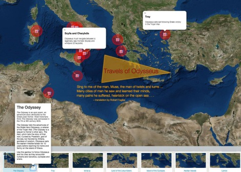 Dig deeper into Mycenaean Greece with our interactive map of the Odyssey. Use this geo-tour to follow Odysseus and his crew as they encounter nymphs and narcotics, cyclopes and sirens.