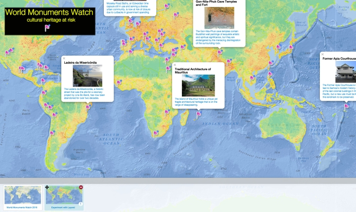 Click to discover 50 world monuments challenged by weather, time, and the human footprint.