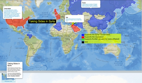 Who is fighting whom in syria nat geo education blog click on each of the countries or regions highlighted in todays mapmaker interactive map to see gumiabroncs Gallery