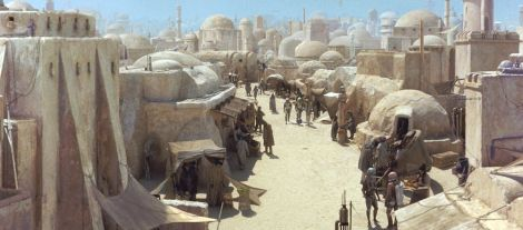 The Sahara (specifically, Tozeur, Tunisia) provided the setting for Star Wars' desert planet, Tatooine. Photograph by LUCASFILM LTD, courtesy National Geographic