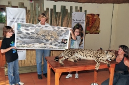 Delivering Donation Check to Cheetah Rescue Center