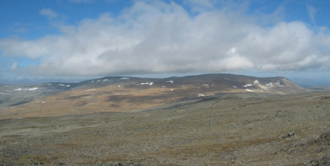 Halti is a fell, or uninhabited and barren high-altitude environment. This is the summit of Halti in the summer. (Yes, there are pockets of snow in July. We're well above the Arctic Circle here.) Photograph by Ari Mure, courtesy Wikimedia. CC-BY-SA-3.0
