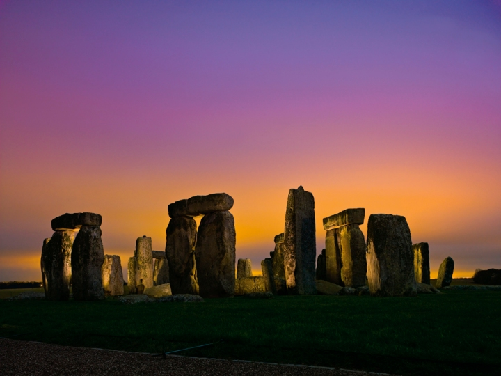 The large sandstone sarsens dominate this gorgeous image of Stonehenge at sunset. Photograph by Kenneth Geiger, National Geographic