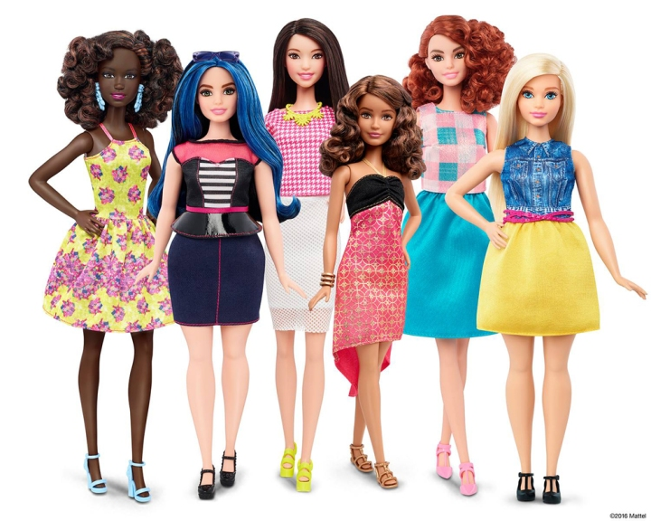 The original Barbie doll will be joined by tall, curvy, and petite cousins this week. Photograph by Mattel