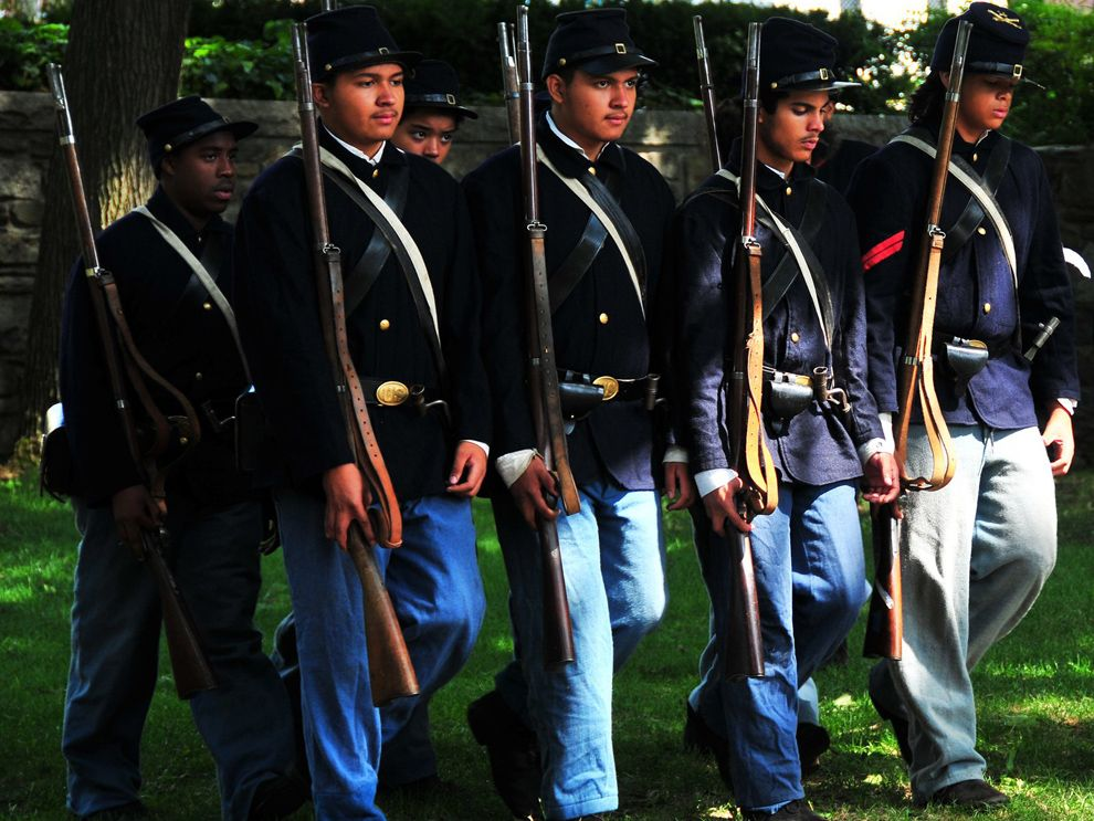 "Four ""regular"" units of African American soldiers served in the Union Army during the Civil War. Photograph by Robert Stanley, National Geographic My Shot"