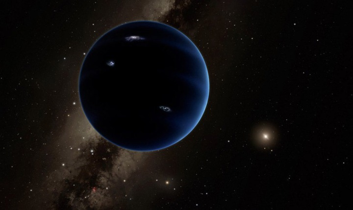 Planet Nine, from outer space! Illustration courtesy Caltech/R. Hurt