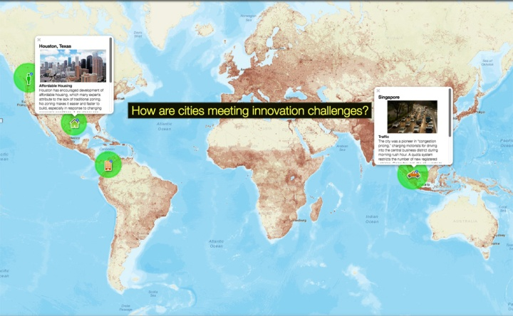 Click through today's simple MapMaker Interactive map to better understand how cities are meeting innovation challenges.