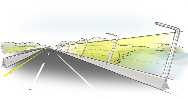 Solar-Noise-Barrier-on-Bridge