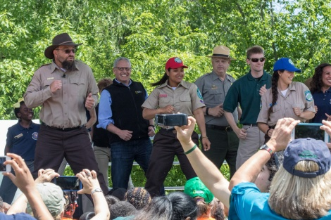 Nat Geo's fearless leader, President and CEO Gary Knell, can BioBlitz boogie with the best of them. (Here, at the Biodiversity Festival at Constitution Gardens on the National Mall.) Photograph by Gabby Salazar, National Geographic