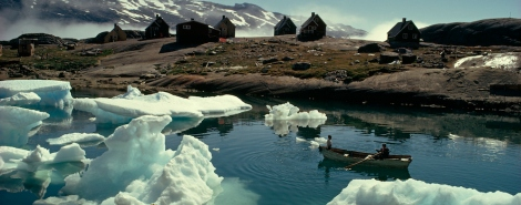 Sea ice in the Nanortalik District of Greenland; Photo by George F. Mobley, National Geographic