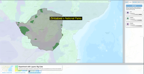 Where are Zimbabwe's national parks? How are they impacted by climate and precipitation patterns? Where are the country's big cat populations? Use today's MapMaker Interactive map to find out. Why are national parks being particularly hard-hit by the drought?