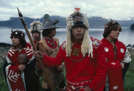 These Tlingit dancers speak Tlingit, an endangered language spoken in western Alaska and Canada. Photograph by David Alan Harvey, National Geographic