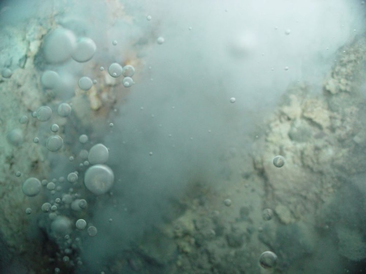 Bubble, bubble, toil and trouble, magma burn and earthquake rumble. Photograph courtesy Pacific Ring of Fire 2004 Expedition. NOAA Office of Ocean Exploration; Dr. Bob Embley, NOAA PMEL, Chief Scientist. (CC BY 2.0)
