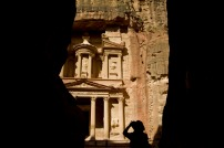 "The most famous remnant of the Nabatean culture is the iconic ""treasury"" monument in Petra, Jordan. Photograph by Jodi Cobb, National Geographic"