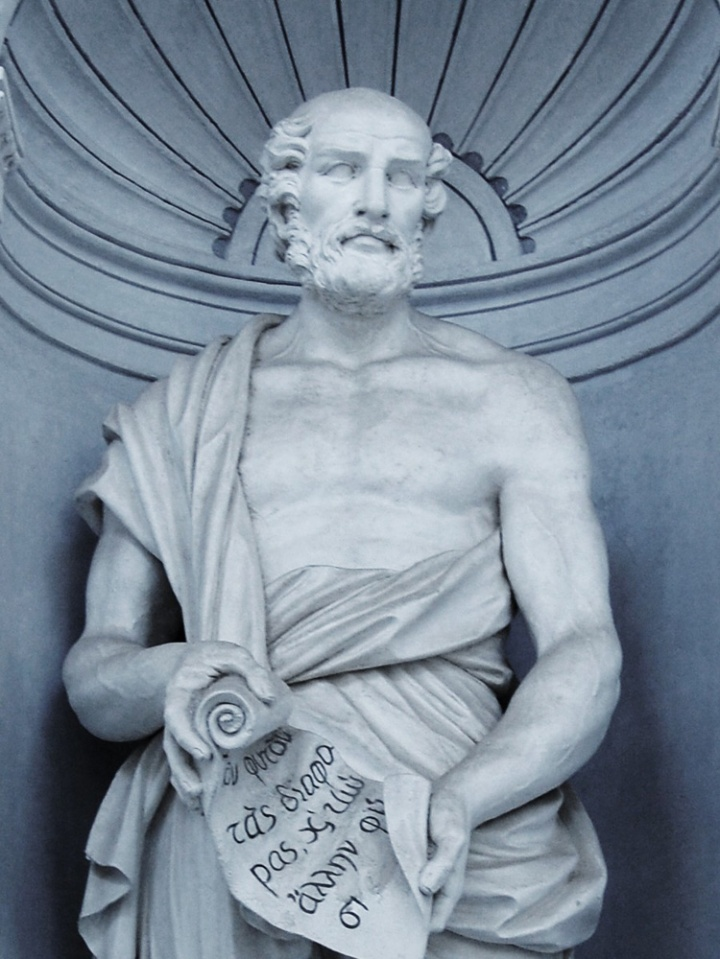 Theophrastus was an ancient Greek philosopher, botanist, Photograph by Tato Grasso, courtesy Wikimedia. CC-BY-SA-2.5