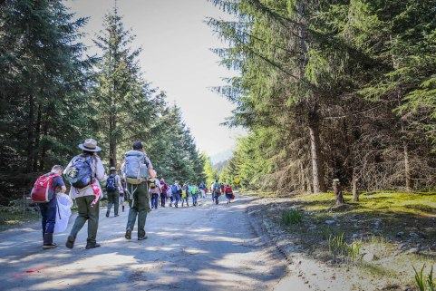 "Students participate in a BioBlitz in the beautifully wooded ""Last Frontier""—Alaska. Photo courtesy NPS"