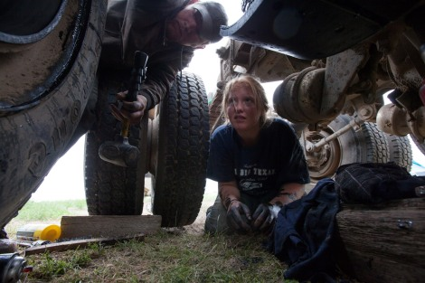 We love this photo of a woman and her boyfriend repairing her dump truck in Williston, North Dakota. Photograph by Eugene Richards, National Geographic