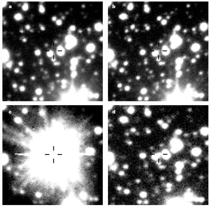 """Boom! From """"The awakening of a classical nova from hibernation."""" Przemek Mróz, Andrzej Udalski, Paweł Pietrukowicz, Michał K. Szymański, Igor Soszyński, Łukasz Wyrzykowski, Radosław Poleski, Szymon Kozłowski, Jan Skowron, Krzysztof Ulaczyk, Dorota Skowron & Michał Pawlak. Nature (2016) doi:10.1038/nature19066"""