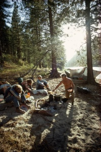 """The National Geographic television special """"Wild River"""" featured the photogenic Craigheads rafting and camping their way down the Middle Fork of Idaho's Salmon River.Photograph by Dick Durrance II, National Geographic"""