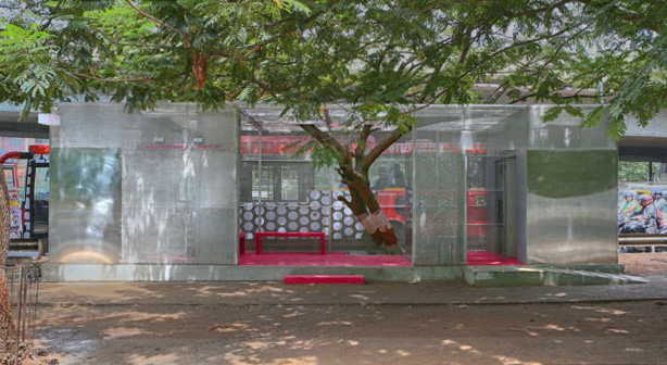 The public bathroom doubles as a safe space and a solution to the city's sanitation struggles. Photograph by Sahej Mantri/Agasti
