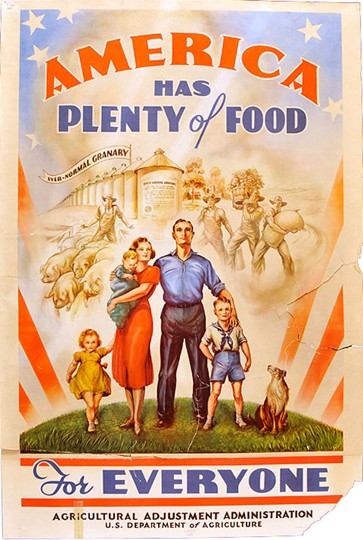 New Deal art was awesome, wasn't it? Illustration by the Agricultural Adjustment Administration, courtesy Library of Congress