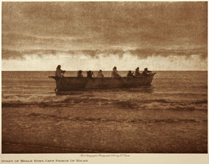 Alaska Natives begin a whale hunt in this beautifully evocative image from 1930. Photograph by Edward S. Curtis, National Geographic