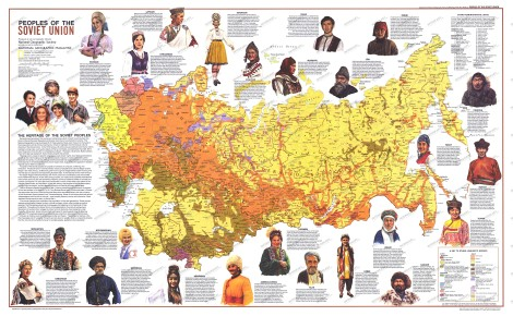 Hey, kids! Remember the USSR? Map by National Geographic, of course