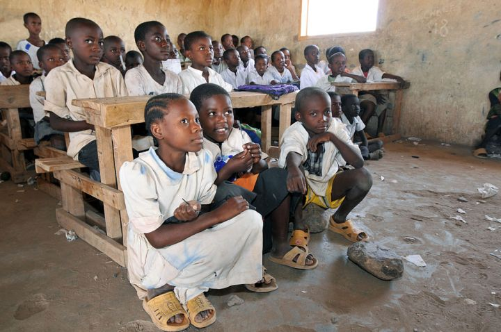 These South Sudanese students are attending class at the Kakuma refugee camp in Kenya. Photograph by D. Willetts, courtesy UNESCO and Wikimedia. CC-BY-SA-3.0