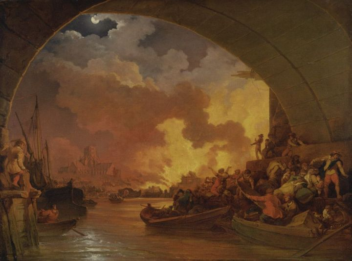 Painting by Philippe-Jacques de Loutherbourg, Yale Center for British Art, Paul Mellon Collection