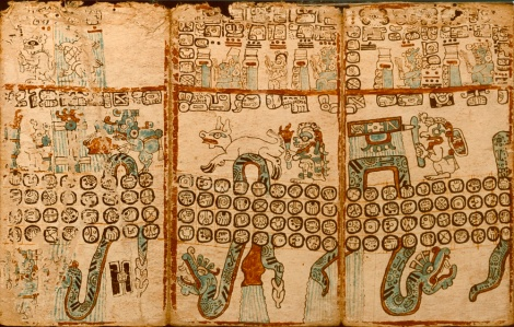 "The ""Madrid Codex"", an almanac for Maya priests, was not translated until the 20th century. Photograph by Victor Boswell and Otis Imboden, National Geographic"