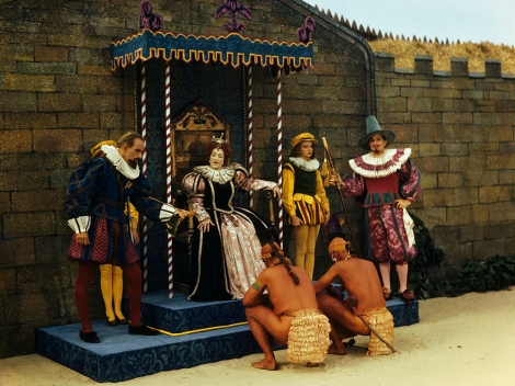 Actors perform a play about Roanoke: the ill-fated colony established under Queen Elizabeth I in what would become America. Photograph by Jack Fletcher, National Geographic