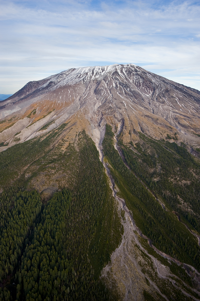 There's no magma beneath the crater of Mount St. Helens' beautiful, cold, steamy peak. It borrows magma from nearby Mount Adams. Photograph by Diane Cook and Len Jenshel, National Geographic