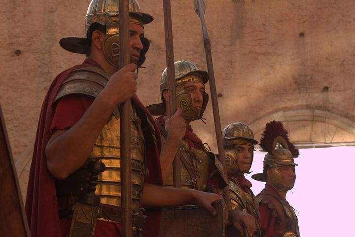 The legions were combined arms forces, made up of recruits from all around the empire, and the end goal for the legionnaires was to retire with a plot of land and full citizenship in the Roman Empire. Photograph courtesy the National Geographic Channel