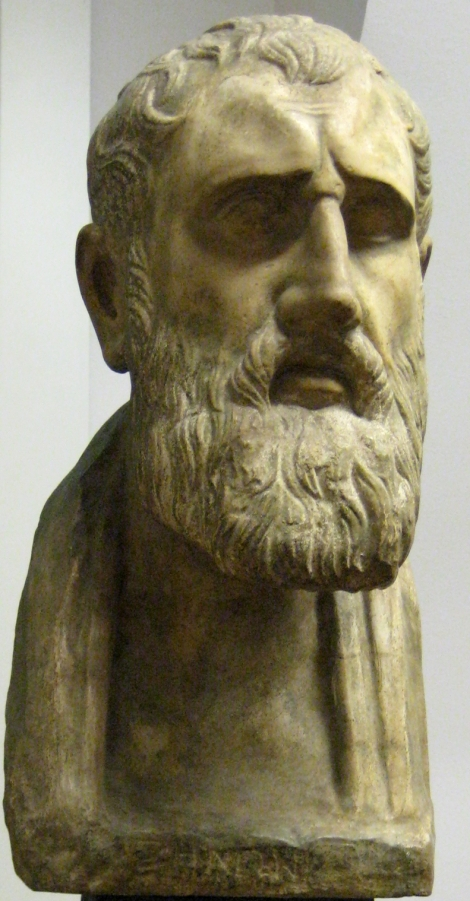 Zeno was the founder of the Stoic school of philosophy, which emphasizes gaining peace-of-mind. Photograph by shakko, courtesy Wikimedia. CC-BY-SA-3.0