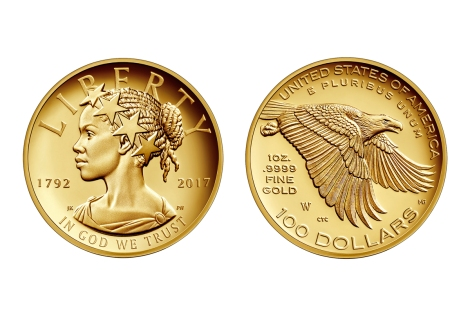 The 2017 American Liberty 225th Anniversary Gold Coin will be released in April and probably sell for about $1,500. Photograph courtesy U.S. Mint