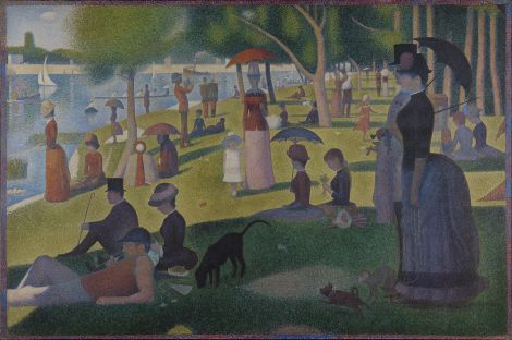 """The most famous Pointillist painting is probably Georges Seurat's """"A Sunday Afternoon on the Island of La Grande Jatte."""" It's beautiful. Painting by Georges Seurat"""