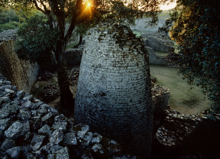 The ruins of Great Zimbabwe include this beautiful conical tower. Photograph by James L. Stanfield, National Geographic
