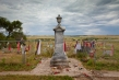 This monument marks the mass grave of those killed in the 1890 Wounded Knee Massacre on the Pine Ridge Indian Reservation in South Dakota. The 1973 occupation occurred in the same place. Photograph by Aaron Huey, National Geographic.