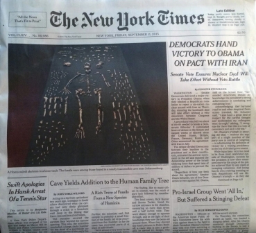 New York Times coverage of Homo naledi