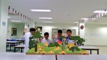 Malaysian students managed to visualize deforestation in 3D via Minecraft. Photograph courtesy Koen Timmers