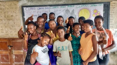 In 2017, many students in Sierra Leone lost their homes due to flooding, but still participated in the Climate Action project. Photograph courtesy Koen Timmers